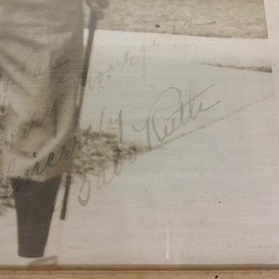 Babe Ruth Autograph   It is  original