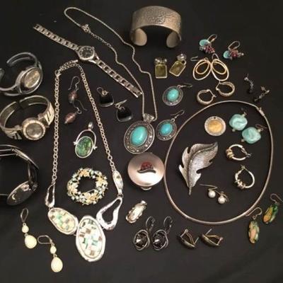 Silver Tone Jewelry Grab Bag #1