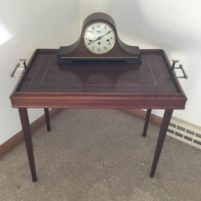 Convertible Table Tray and Bulova Westminster Clock