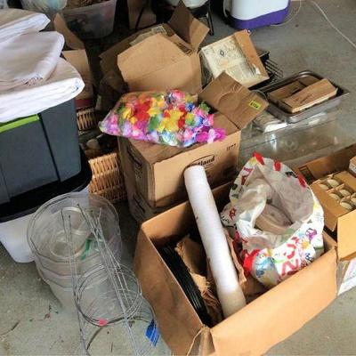 HFS013 Mystery Lot - Paper Goods, Glassware, Crafting, More