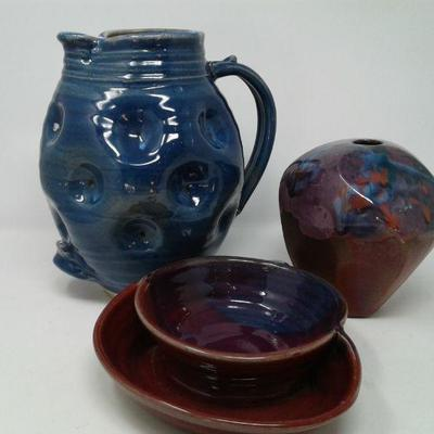 Blue Ceramic Pitcher and More