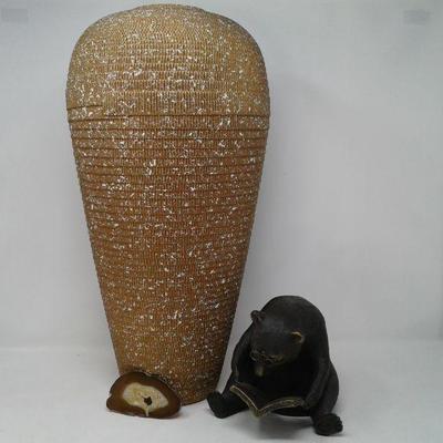 Beautiful 20 Inch Corrugated Vase