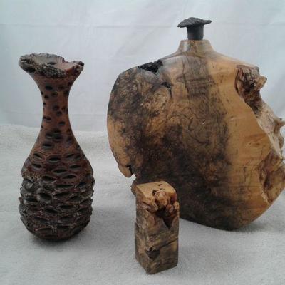 Burl Wood Decorative Pieces