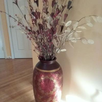 Gorgeous Large Vase and Floral Arrangement