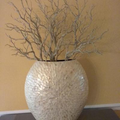 Artificial Floral Arrangement and Attractive Vase