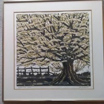 Apple Tree, Joe Ardourel Limited Serigraph