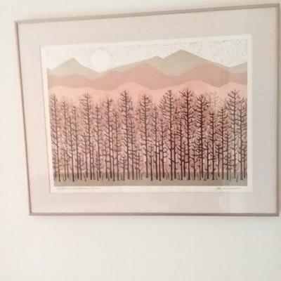 Autumn Landscape, Joe Ardourel Limted Serigraph