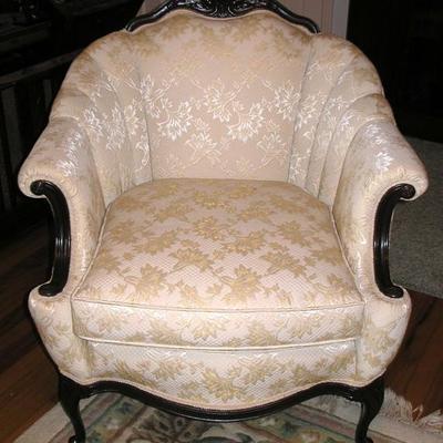 Beautiful Clean Brocade Antique Arm Chair