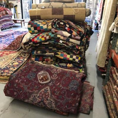 Estate Sale: Everything has to be sold!   Authentic Hand Knotted Persian, Pakistan, Afghan, Turkish Vintage Kilims Natural Wool & Cotton,...