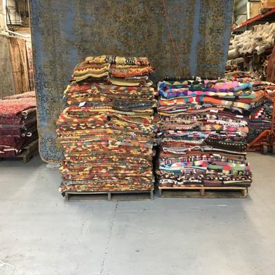 Estate Sale: Everything has to be sold!   Authentic Hand Knotted Persian, Pakistan, Afghan, Turkish Kilims Natural Wool & Cotton,...