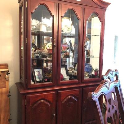 Colonial Cherry Stain China Cabinet (by Tonic Furniture Co.)