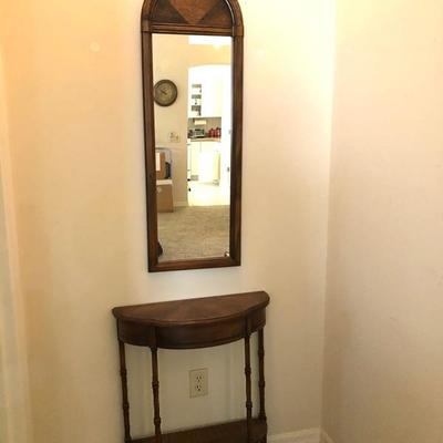Petite Demi-Lune Hall Table Arched-top Hall Mirror