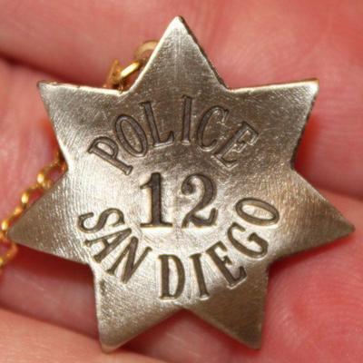 SAN DIEGO POLICE BADGE 12