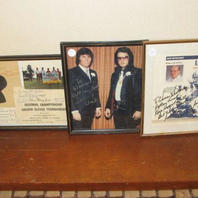 Autographs - Curtis Coke / Wrestling  Sonny West / Elvis Body Gaurd Ray Nitschke - Green Bay Packers