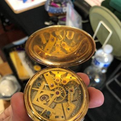 Dudley Masonic 10K pocket watch!