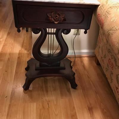Harp table $95 18 X 14 X 28