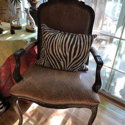 French provincial chair $120