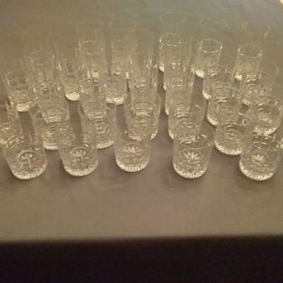 Beautiful Bar Ware- Crystal Water and Old Fashioned Glasses