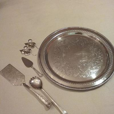 Assortment of Silver-Plated Serving Utensils
