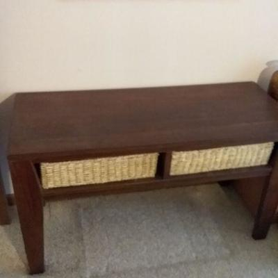 Accent Table with Storage Compartments