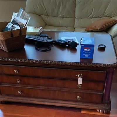 High Quality Bernhardt Coffee table with 3 drawers