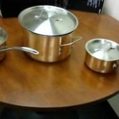 Calphalon Tri Ply Copper 6 Piece Cookware Set (As is, open box)
