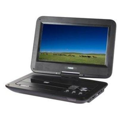 10 TFT LCD Swivel Screen Portable DVD Player with USBSDMMC Inputs