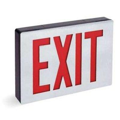 ACUITY LITHONIA Exit Sign,1.2W,Red,1 Face LE S 1 R