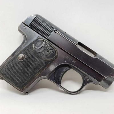 106: Fabrique d'Armes .25cal Semi-Auto Pistol with Magazine Serial Number: 722801 Barrel Length: 2