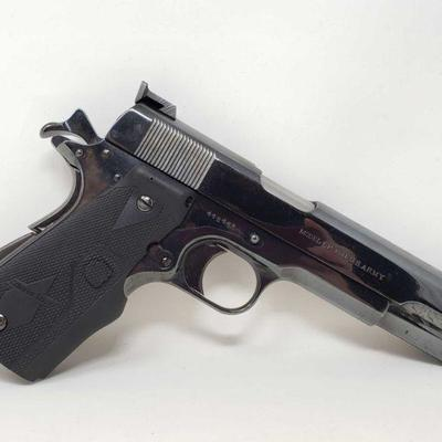 135: Colt US Army 1911 .45cal Semi-Auto Pistol Includes Magazine Serial Number: 448462 Barrel Length: 5