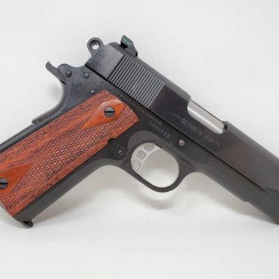 150: Colt Commander .45Auto Semi-Auto Pistol with 8 Round Magazine and Case Serial Number: CJ32493 Barrel Length: 4.25