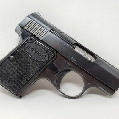 110: Browning .25cal Semi-Auto Pistol with Magazine Serial Number: 237466 Barrel Length: 2
