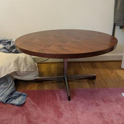 round table with funky legs 35.5 in diameter, 18.5 inches tall. LOOK AT THOSE FUNKY LEGS. $85