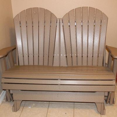 Amish made double glider rocker