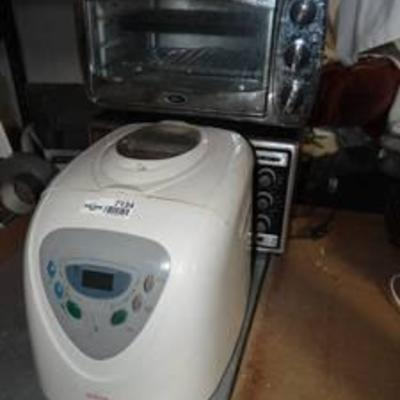 Bread Maker and 2 Toaster Ovens