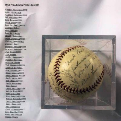 DCK009 1958 Philadelphia Phillies Facsimile Signed Baseball