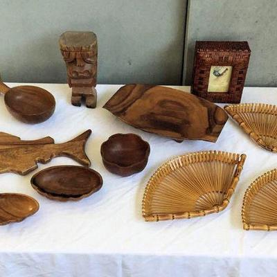 DCK011 Carved Wooden Tiki Sculpture & More