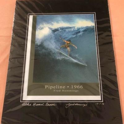 DCK018 Fred Hemmings Pipeline 1966 Signed Art Print