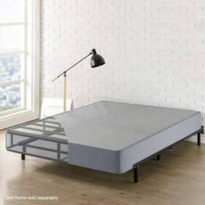 Best Price Mattress King Box Spring, 9 High Profile with Heavy Duty Steel Slat Mattress Foundation Fits Standard Bed Frame, King Size