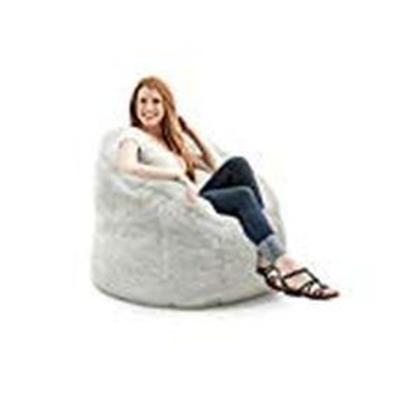 Big Joe Milano Bean Bag Chair, Ivory