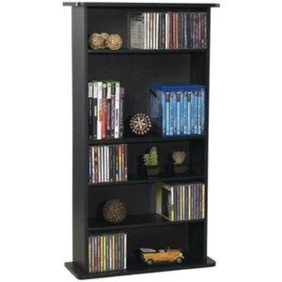 Atlantic Drawbridge Media Storage Cabinet - Store & Organize A Mix of Media 240Cds, 108DVDs Or 132 Blue-RayVideo Games, Adjustable...