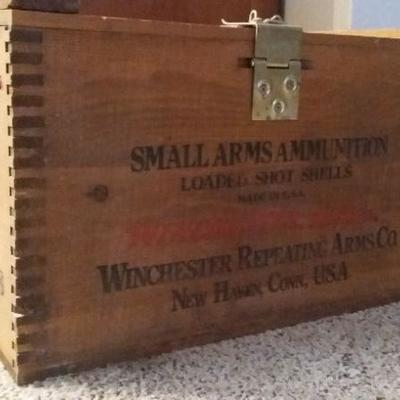 Vintage Winchester ammunition box