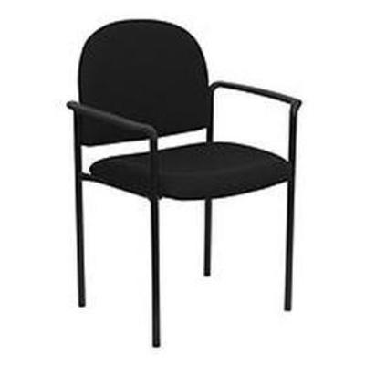 Contemporary Stackable Office Arm Chair w Tubular Steel Frame