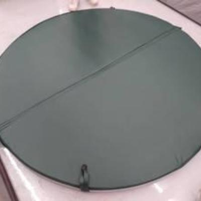 Coverlex Round Spa Cover Hunter Green 77 12 inches across skirt length 3 with steam stopper & heat seal