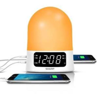 Alarm Clock Sharp White, Alarm Clock