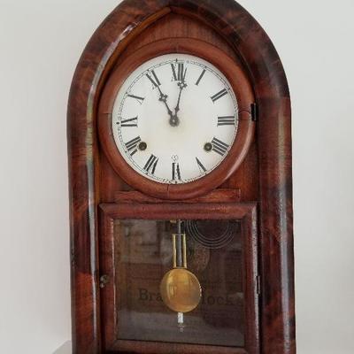 Lot # 8 - $175 W.M. Gilbert & Co. Clock (Key Inside)