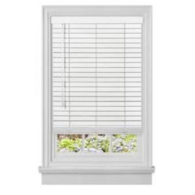 Achim Home Furnishings Cordless GII Madera Falsa 2 Faux Wood Plantation Blind 46 x 64, White