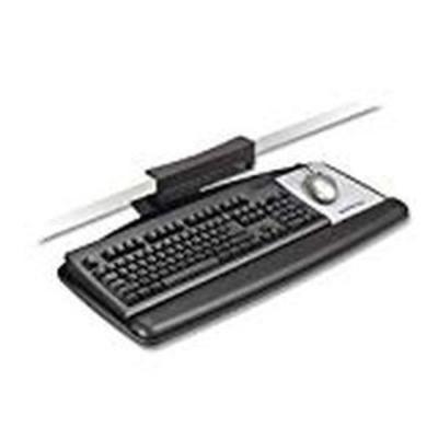 3M Keyboard Tray, Tool Free Installation, Simply Turn Knob to Adjust Height and Tilt, Sturdy Tray Includes Gel Wrist Rest and Precise...