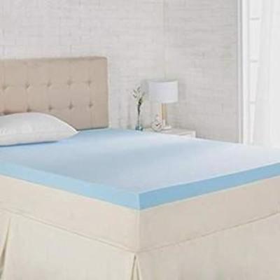 AmazonBasics Cooling Gel-Infused Memory Foam Mattress Topper - Ventilated, CertiPUR-US Certified Foam, 3-Inch - King