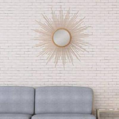 30 Sunburst Wall Accent Mirror Gold - Patton Wall Decor